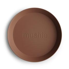 Round Dinnerware Plates, Set of 2 (Caramel)