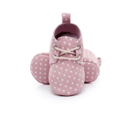 Schoentjes roze/stip