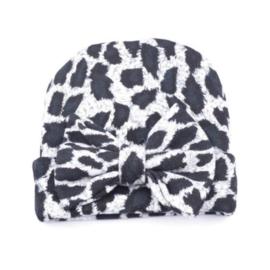 Leopard mutsje | grijs