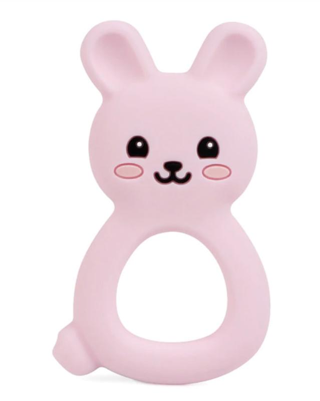 Bijtring Bunny roze