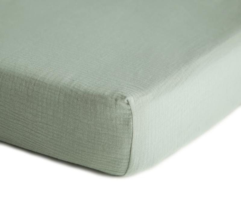 Mushie | Crib sheet | Roman Green