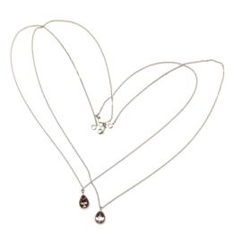 Witgouden colliers en hangers met roze toermalijn