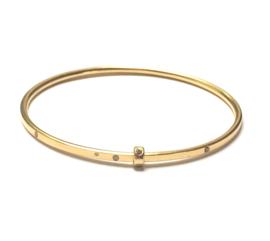18kt. geelgouden armband met diamant