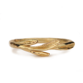 Gouden Willow Leaf ring