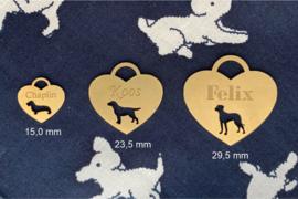Hartvorm hondenpenning