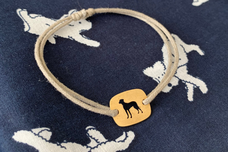 Kussenmodel hondenras armbandje