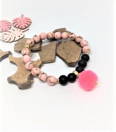 Adana roze/zwart
