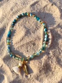 Fijn turquoise armbandje