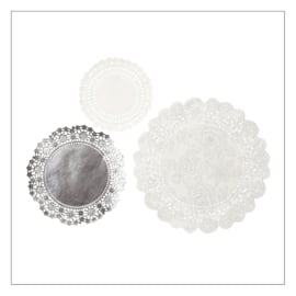 DOILIES SET · PARTY PORCELAIN ZILVER