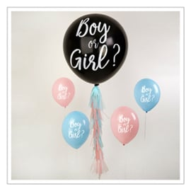 BALLON GENDER REVEAL: BOY OR GIRL? · SET