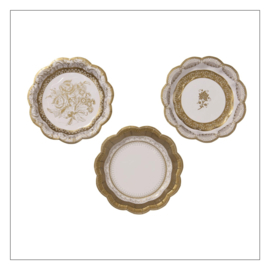 BORDJES KLEIN · PARTY PORCELAIN GOUD · 12ST