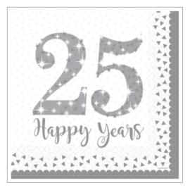 SERVETTEN · 25 HAPPY YEARS · WIT ZILVER