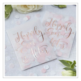 ZAKJE HAPPILY EVER AFTER · ROZE WITTE CONFETTI