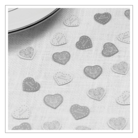 CONFETTI · HARTJES VINTAGE ROMANCE ZILVER · JUST MARRIED