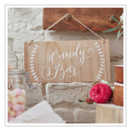 CANDY BAR - TEKSTBORD · HOUT