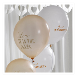 BALLONNEN · JUST MARRIED / LOVE IS IN THE AIR GOUD · 8ST
