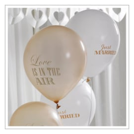 JUST MARRIED / LOVE IS IN THE AIR - BALLONNEN · IVOOR GOUD · 8ST
