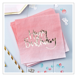 SERVETTEN · HAPPY BIRTHDAY · OMBRE PINK