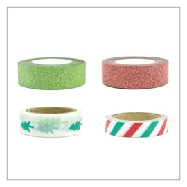 WASHI TAPE · MERRY CHRISTMAS MIX · 4ST
