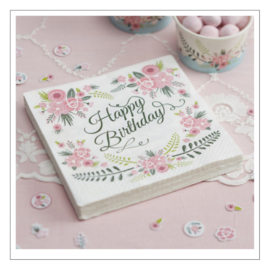 SERVETTEN · HAPPY BIRTHDAY · FLORAL FANCY