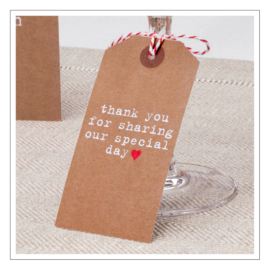 THANK YOU - LABELTJES · JUST MY TYPE KRAFT · 10ST