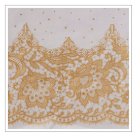 TAFELLAKEN PAPIER · PARTY PORCELAIN GOUD
