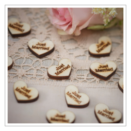 CONFETTI · HARTJES HOUT · JUST MARRIED