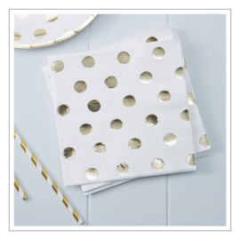 SERVETTEN · POLKA DOTS GOLD