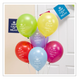 BALLONNEN · KEEP CALM AND PARTY ON · 8ST