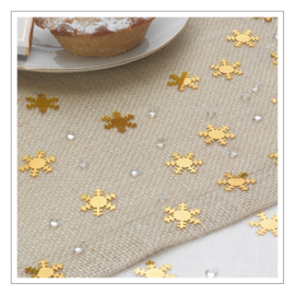 CONFETTI · SHIMMERING SNOWFLAKES · GOUD
