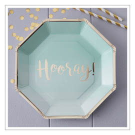 BORDJES · OMBRE MINT GOUD 'HOORAY' · 8ST