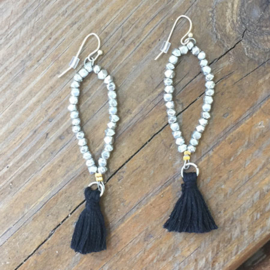 Dewdrop Tassel Earrings Silver