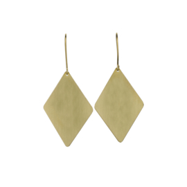 Geometric Brass Diamond Earrings