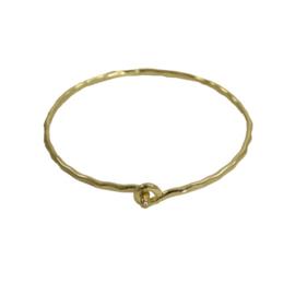 Interlocking Ripple Bracelet Gold