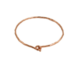 De Interlocking Ripple Bracelet - zilver/goud/koper