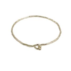 Interlocking Ripple Bracelet Silver