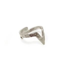 V-Wrap Ring verzilverd