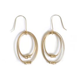 Brass Ribbon Sophie Earrings