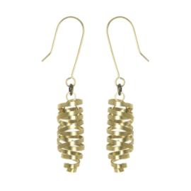 Brass Ribbon Laurita Earrings