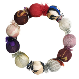 Sari Silk Bauble Bracelet