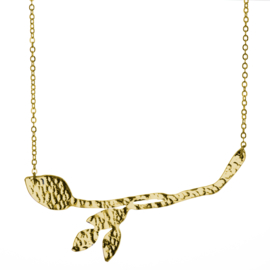 Gold Plated Meadow Leaf Necklace