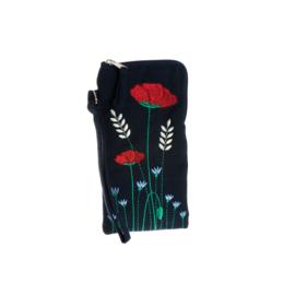 Bril-Etui / Telefoonhoes Poppy Meadow