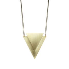 Geometric Brass Lucie Necklace