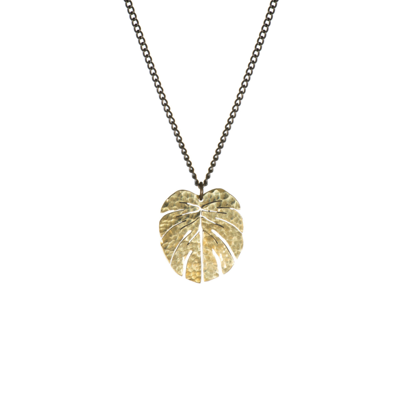 Coralie Tropical Leaf Necklace small