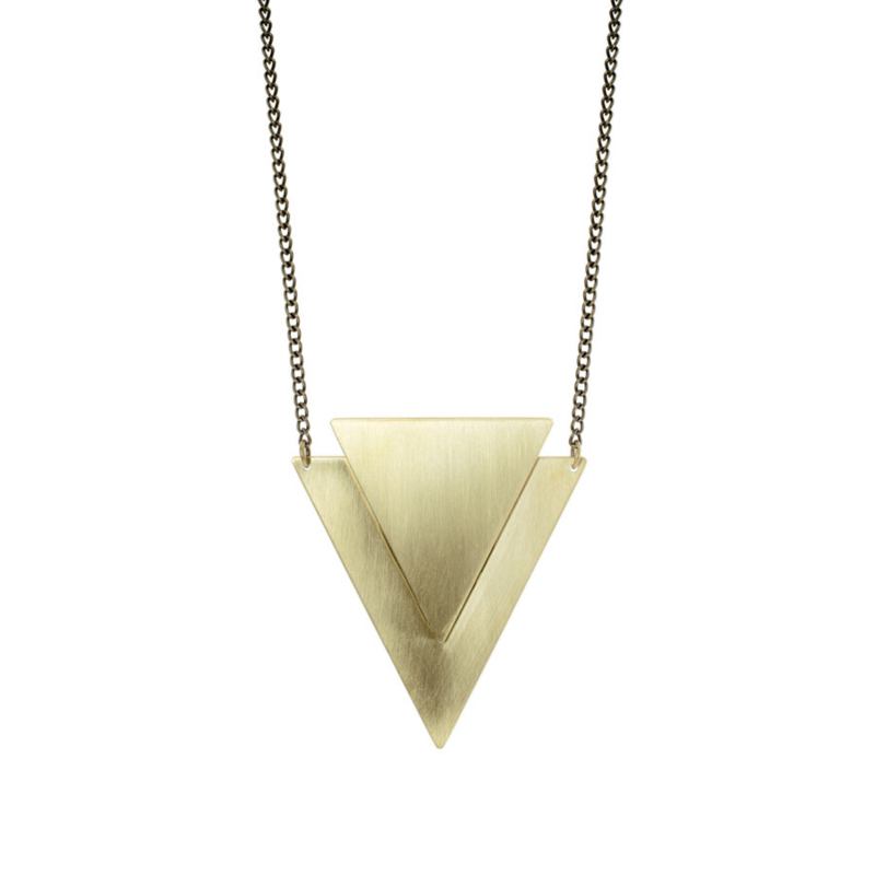 Geometric Brass Lucie Necklace