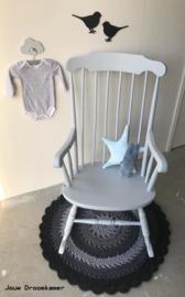Brocante schommelstoel Bibi