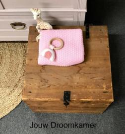 Stoere houten kist Linna