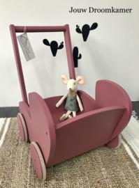 Houten poppenwagen Lou