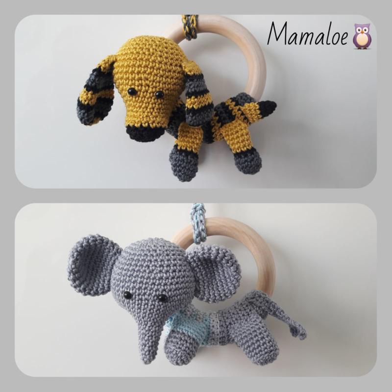 Bijtring hond/olifant