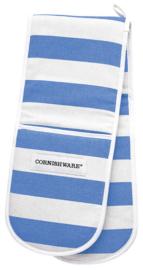 Cornishware Cornishblue dubbele ovenwanten blauw